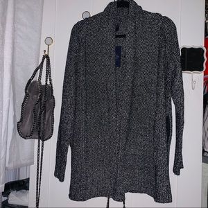Charcoal sparkle long cardigan